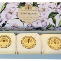 White Jasmine and Sandalwood - 3 x 100 g Hand Soap Gift Box