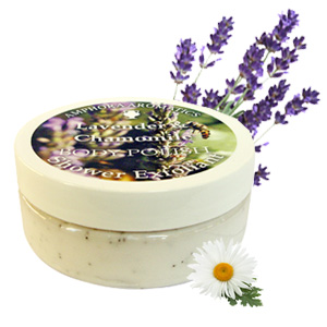 Lavender and Chamomile Body Polish Shower Exfoliant 250 ml