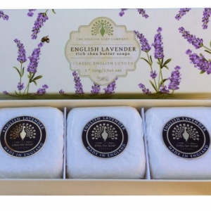 English Lavender - 3 x 100 g Hand Soap Gift Box