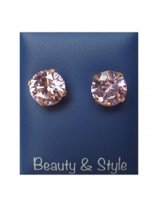 Cubic Zirconia Pink 8 mm