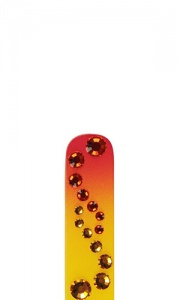 Glass Nail File With Swarovski Crystals - Sunrise