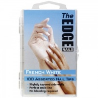 French White Nail Tips Box of 100