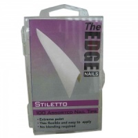 Stiletto White Nail Tips Box of 100
